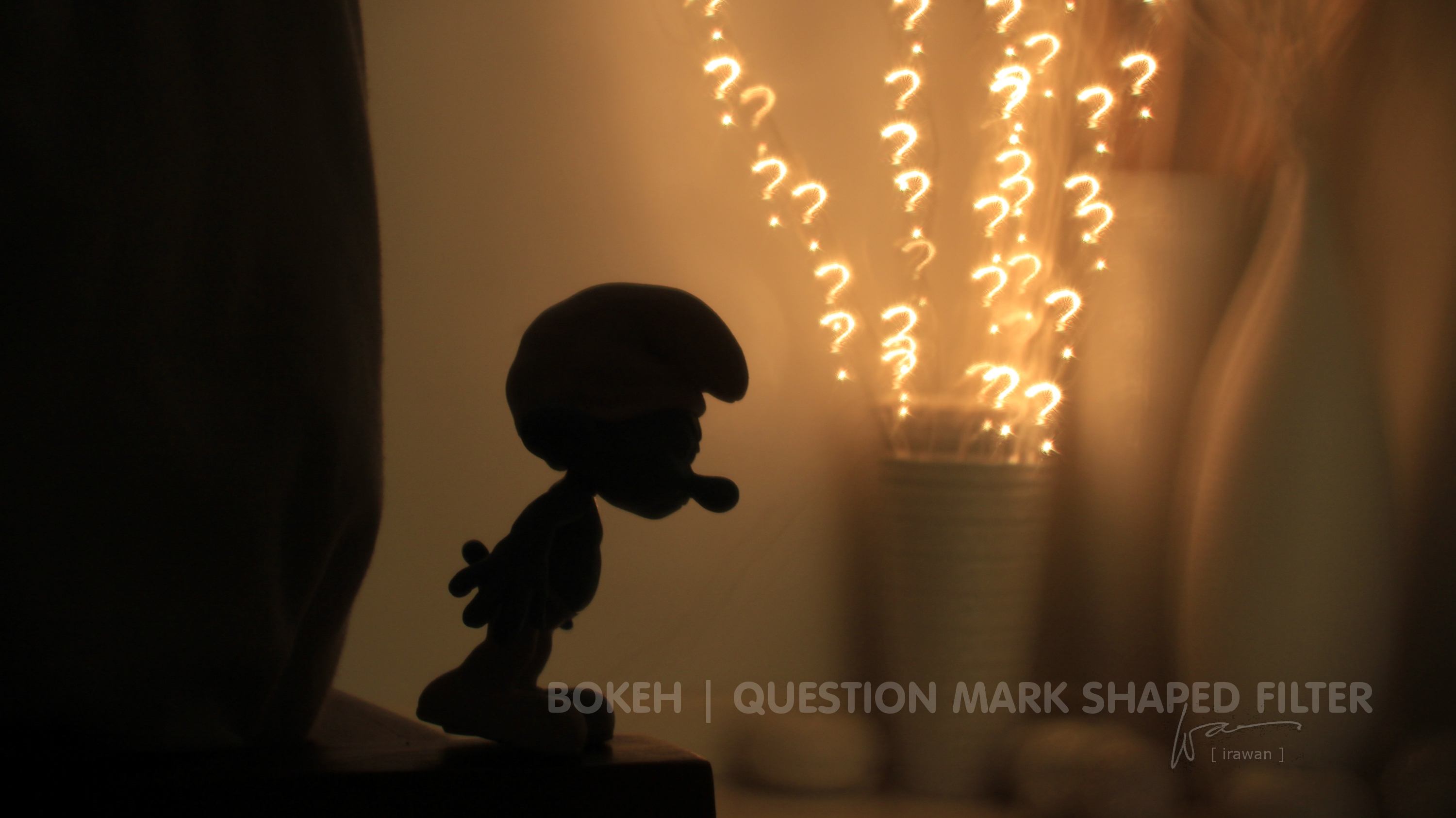 Bokeh with question mark shaped filter